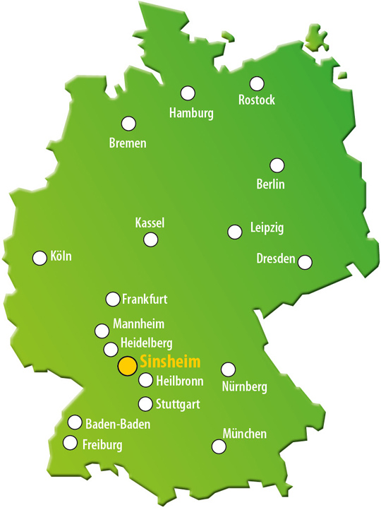 Lage Anfahrt Wohnmobilpark Sinsheim